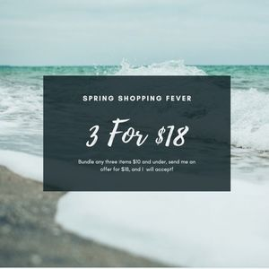 Other - 3/$18 SALE-Bundle any 3 items $10 and less for $18